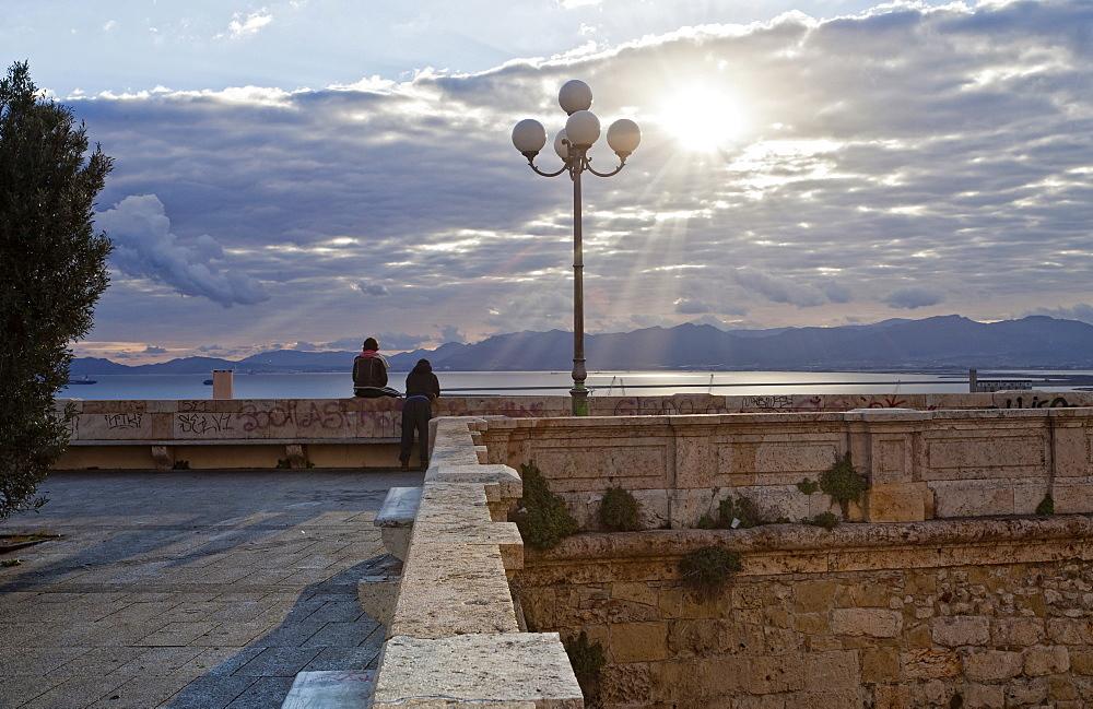 Bastioni San Remy, Cagliari, Sardinia, Italy, Europe
