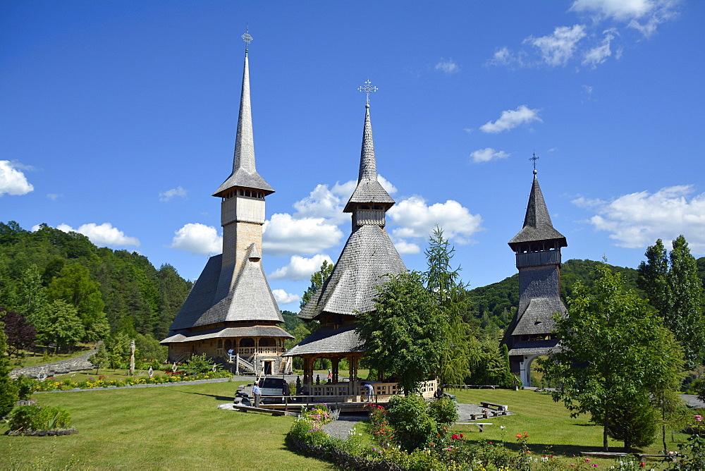 Wooden churches in Barsana, Maramures, Romania, Europe - 746-87745