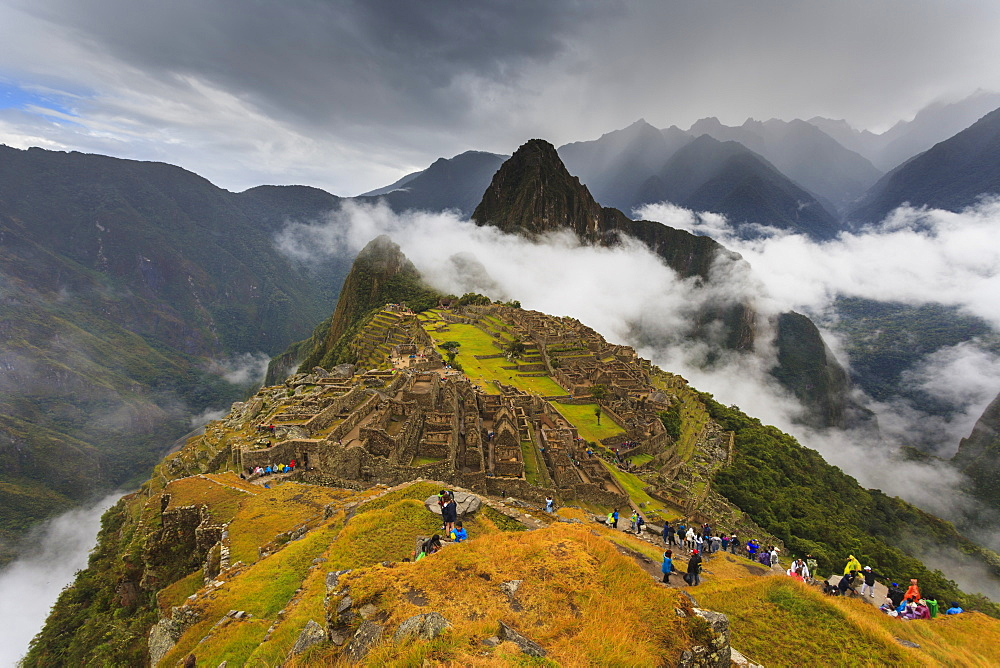 Iconic archeological site of Machu Picchu in the Cusco Region, Urubamba Province, Machupicchu District, Peru, South America