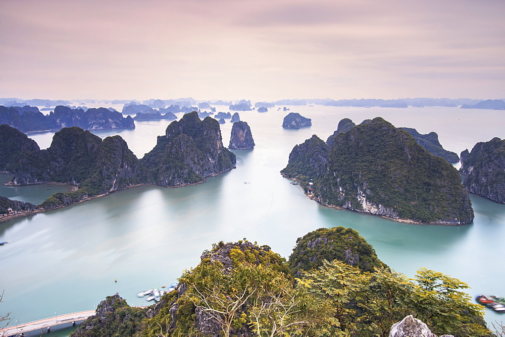 Panoramic view of Halong Bay, Vietnam, Indochina, Asia