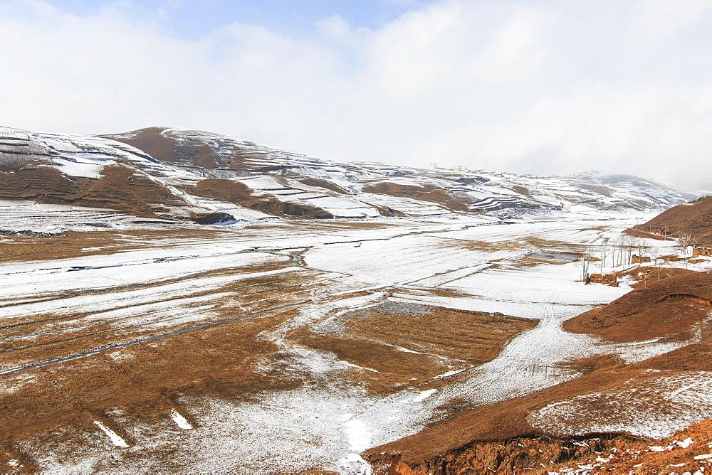 Winter landscape in Da Shan Bao mountains in Yunnan, China