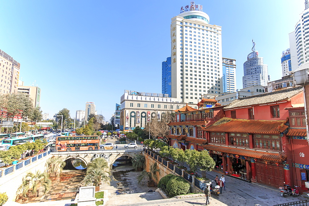 Buildings in the city center of Kunming in China
