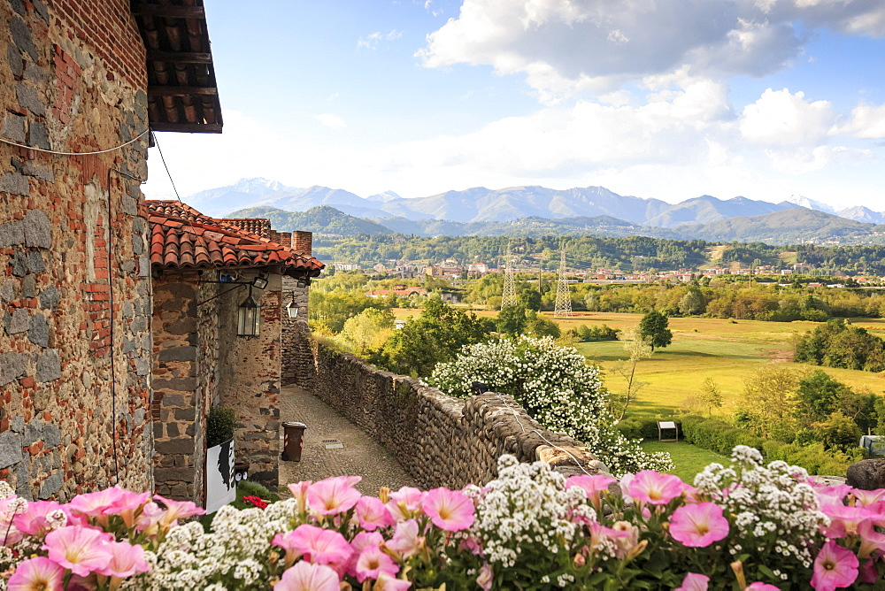 Medieval village of Ricetto di Candelo used as a refuge in times of attack during the Middle Age, Biella, Piedmont, Italy, Europe