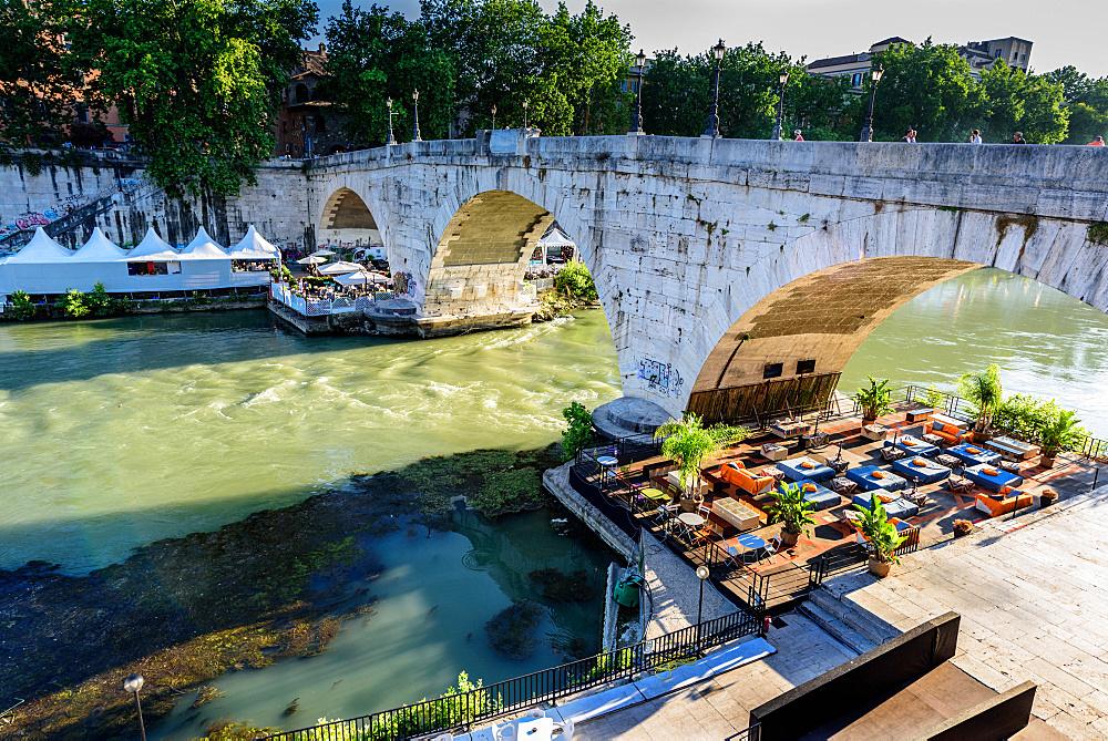 Lungotevere, Tiber river, Trastevere, Rome, Lazio, Italy, Europe