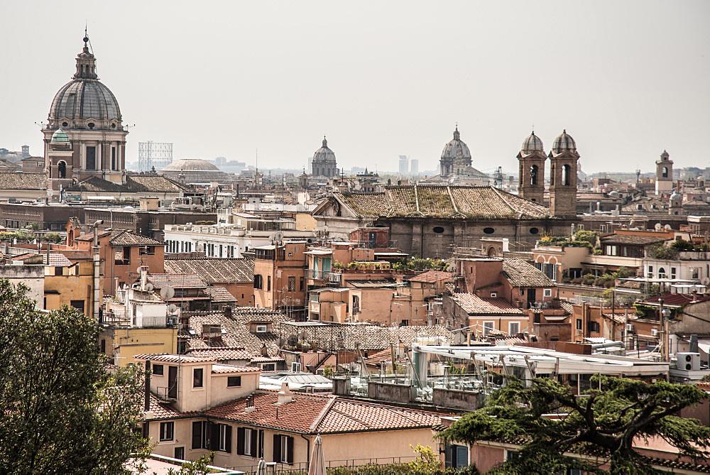 Views; Pincio; Roofs; Rome; lazio; Italy; Europe