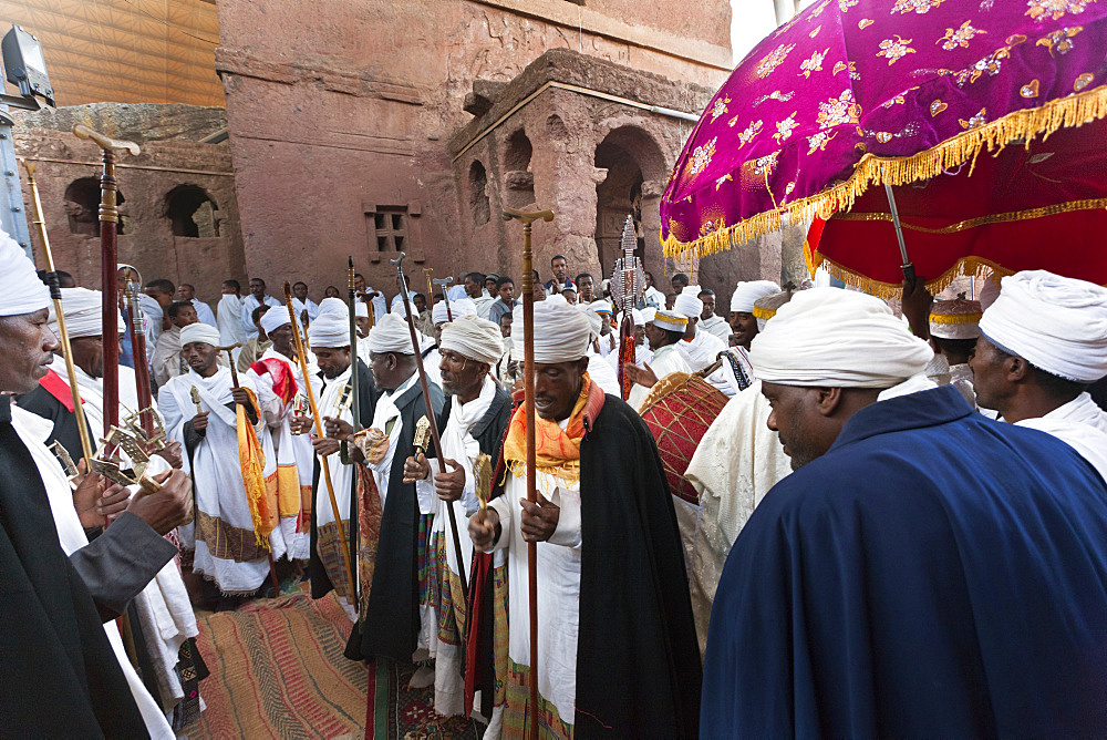 Meskel Cerimony in Lalibela (Meskal, Meskal, Maskal,  Mescel, Mesquel), which is taking place every September. For Meskel many pilgrims are coming to Lalibela, to celebrate it at one of the holy palces in Ethiopia, Africa, East Africa, Ethiopia, Lalibela