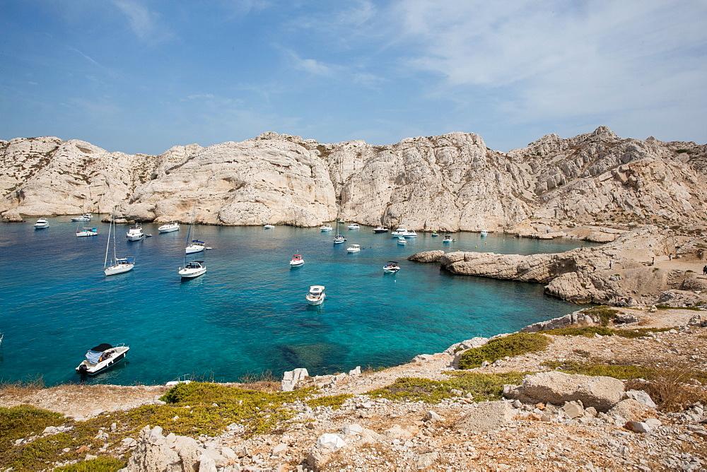 Calanque Frioul, near Marseille, Bouches-du-Rhone, Provence, France, Mediterranean, Europe - 746-88459