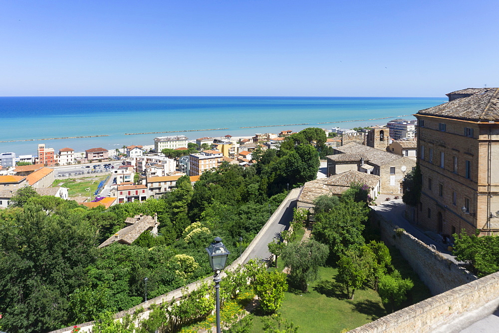 View from upper city, Grottammare, Landscape, Marche, Italy, Europe