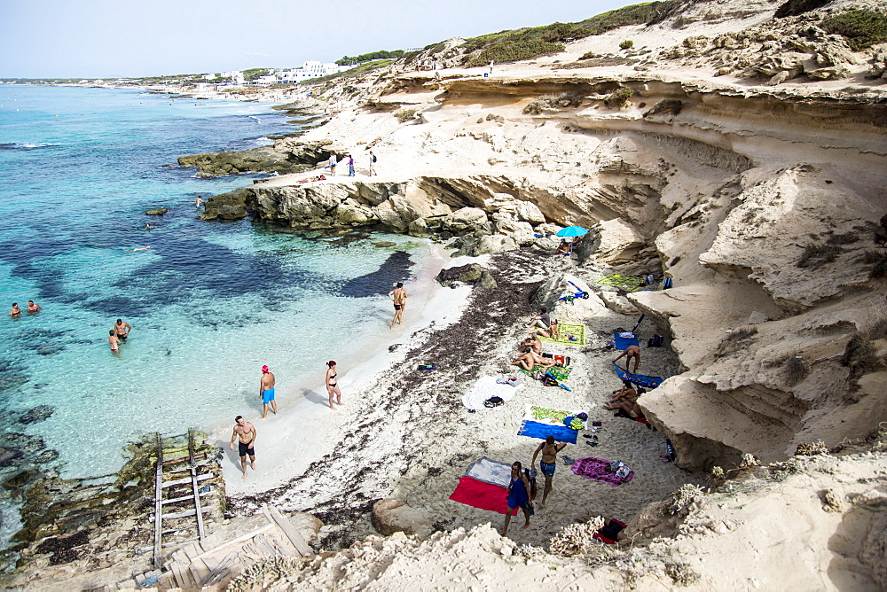 Calò d'es Morts beach, Landscape, Balearic Islands, Formentera, Spain