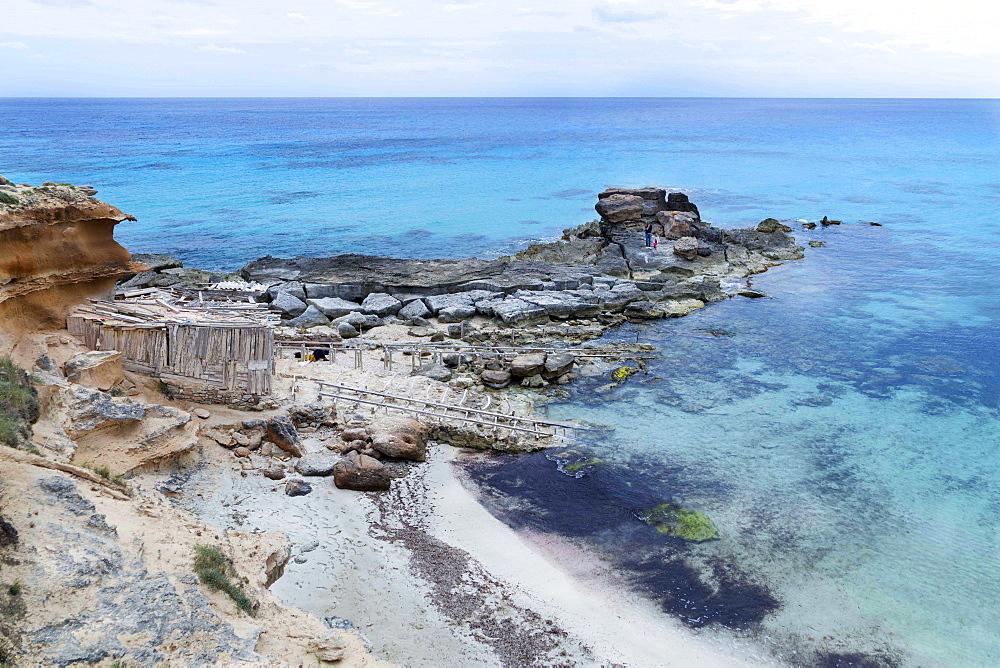Seascape, Calo Des Mort, Landscape, Balearic Islands, Formentera, Spain - 746-88472