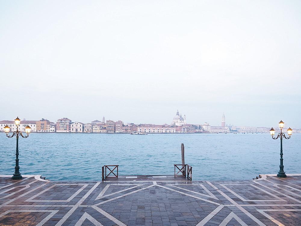 Fondamenta Zattere view from Giudecca island, Venice, Veneto, Italy, Europe
