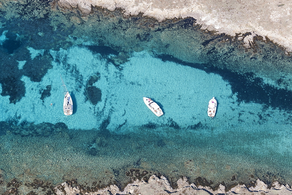 Aerial view, Porto Cervo, Sardinia, Italy, Europe