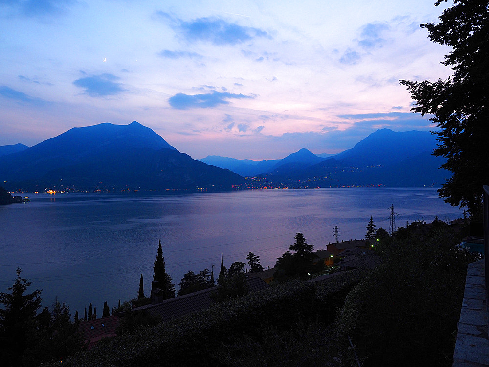 Sunset, Varenna, Lake Como, Lombardy, Italy, Europe
