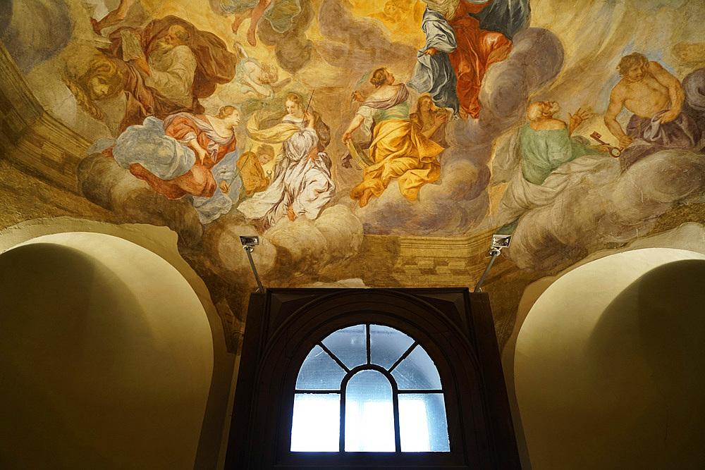 Interior of San Lorenzo Maggiore church, XIX secolo century, Milan, Lombardy, Italy, Europe