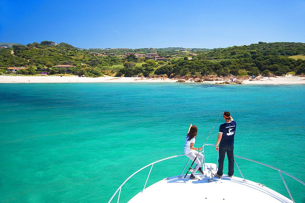 Marinedda Beach, Poseidon Charter, Isola Rossa, Red Islet, Trinità d'Agultu, Sardinia, Italy, Europe