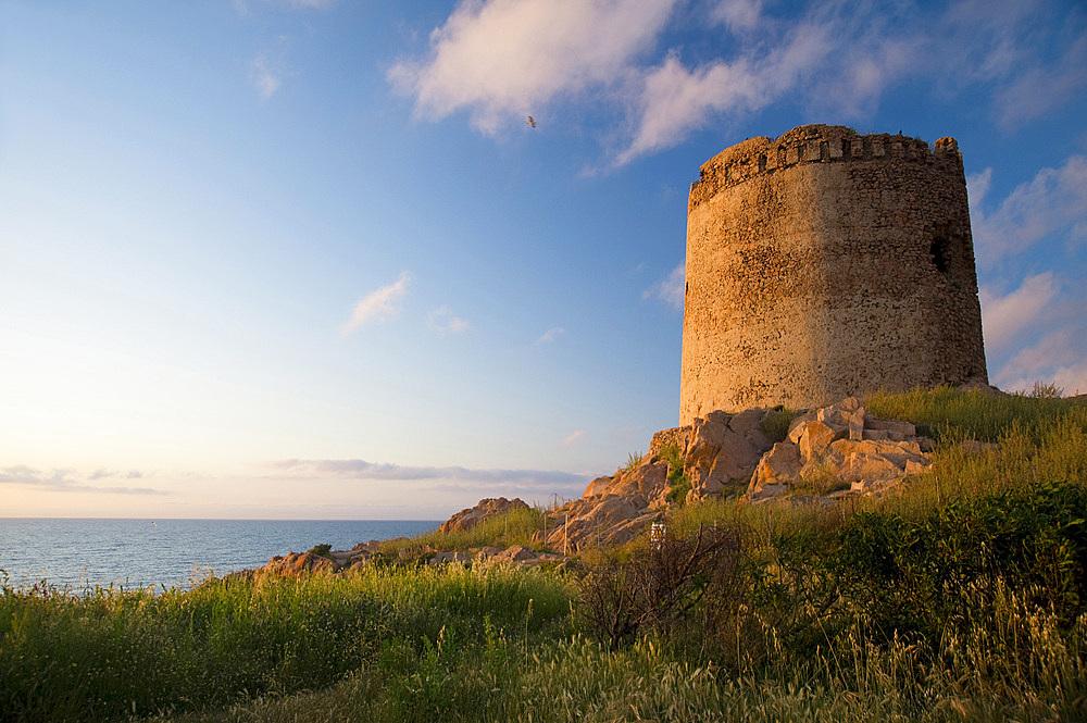 Torre Spagnola, Isola Rossa, Red Islet, Trinità d'Agultu, Sardinia, Italy, Europe
