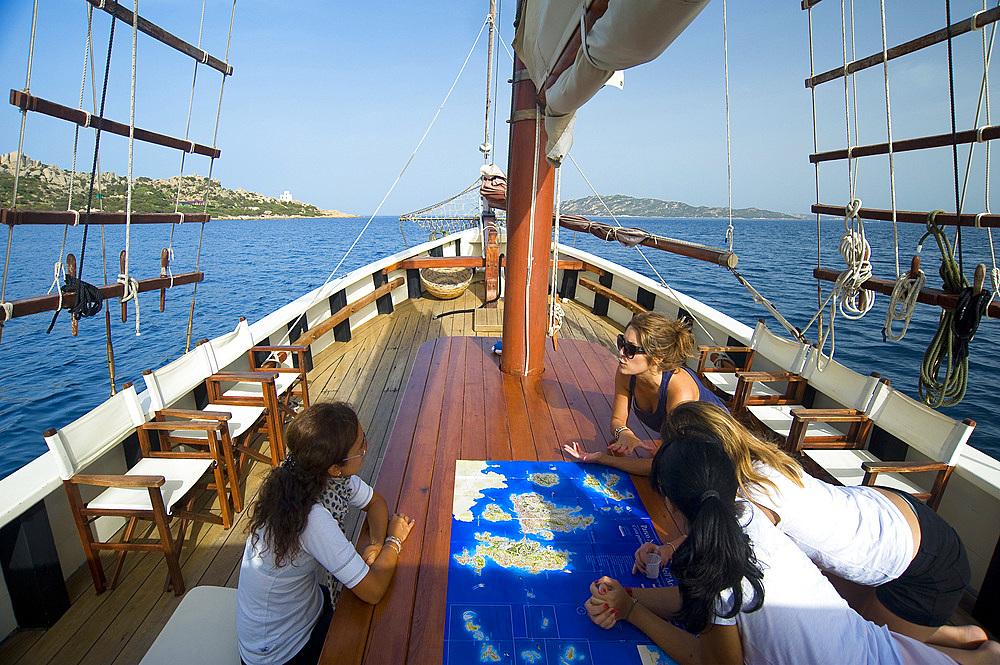 Pulcinella Sailboat, Delphina Resorts, Palau, Bocche di Bonifacio, La Maddalena Archipelago, Sardinia, Italy, Europe