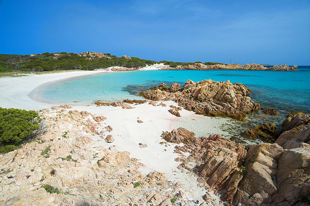 Pink Beach, Spiaggia Rosa or Cala di Roto, Island of Budelli; La Maddalena Archipelago, Bocche di Bonifacio, Sardinia, Italy, Europe