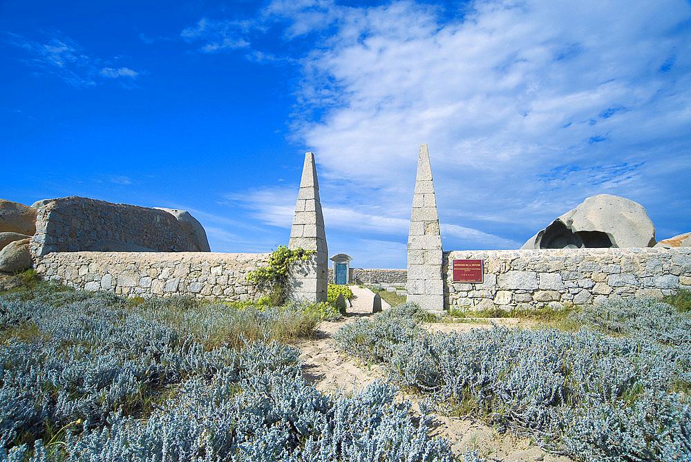 Cemetery, Lavezzi Isle, Bonifacio, Corsica, France, Europe