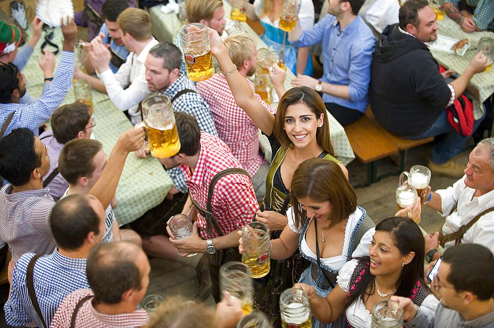 Oktoberfest, traditional german beer festival, Munich, Baviera, Germany, Europe - 746-88683