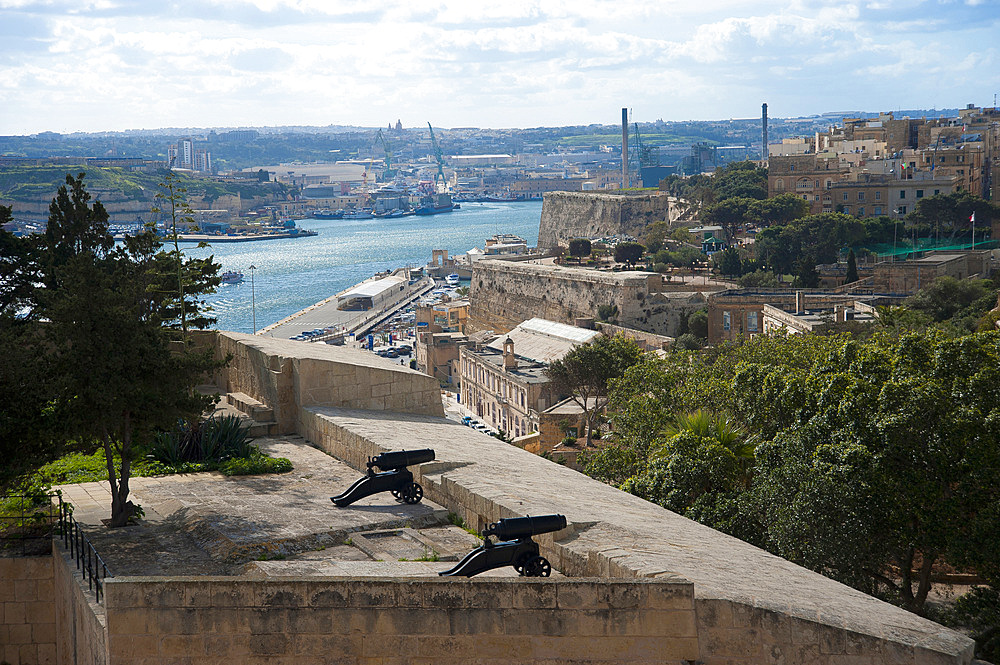 La Valletta, Capital of Culture 2018, Upper Baracca Garden, Grand Harbor, Malta Island, Mediterranean Sea, Europe