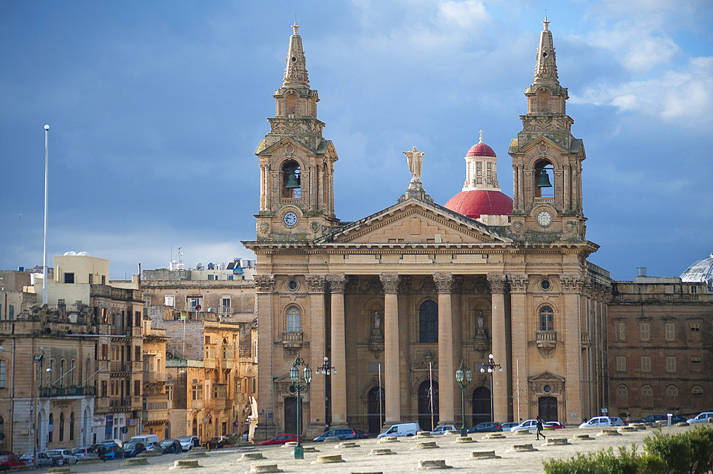 San Publio Church, Floriana, Malta Island, Mediterranean Sea, Europe