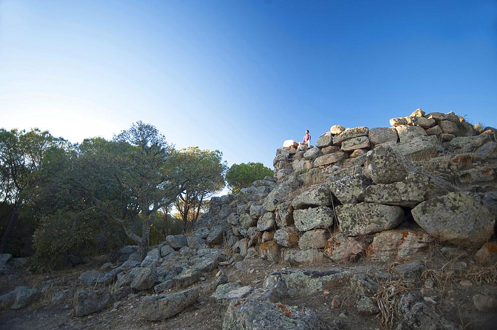 Nuraghe Ugolino, Archaeological site, Nuoro, Sardinia, Italy, Europe