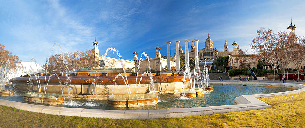 Font màgica de Montjuïc, Montjuïc, Barcelona, Catalonia, Spain, Europe