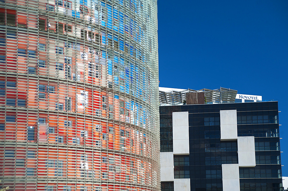 Agbar Tower, Barcelona, Catalonia, Spain, Europe