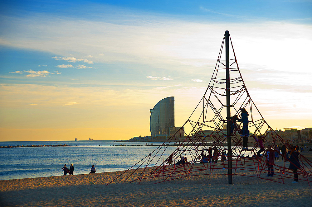 Playa de Barceloneta, Barcelona, Catalonia, Spain, Europe
