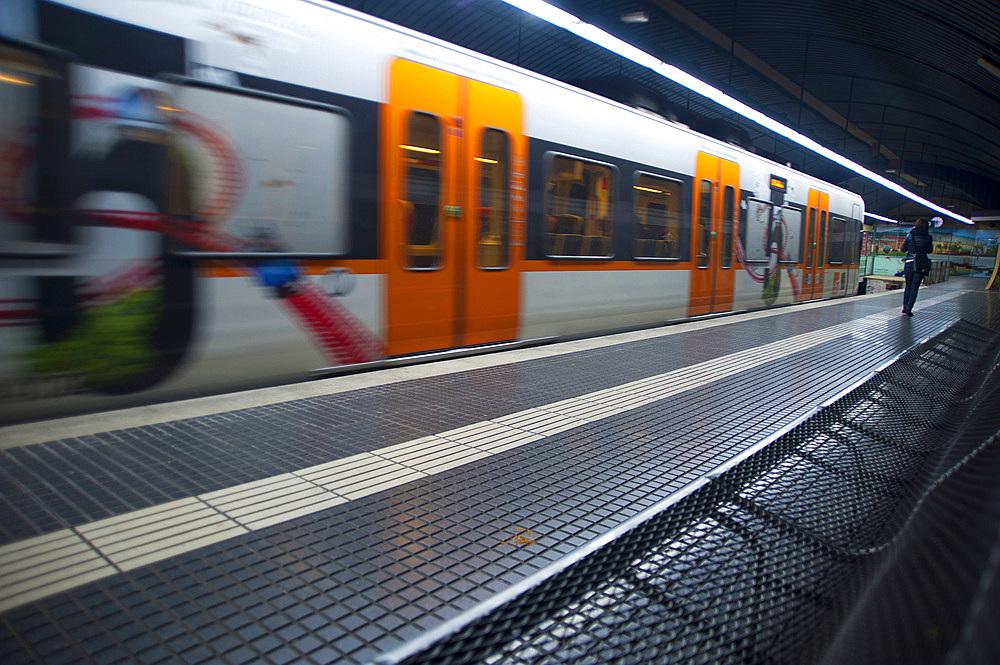 Metro, Barcelona, Catalonia, Spain, Europe