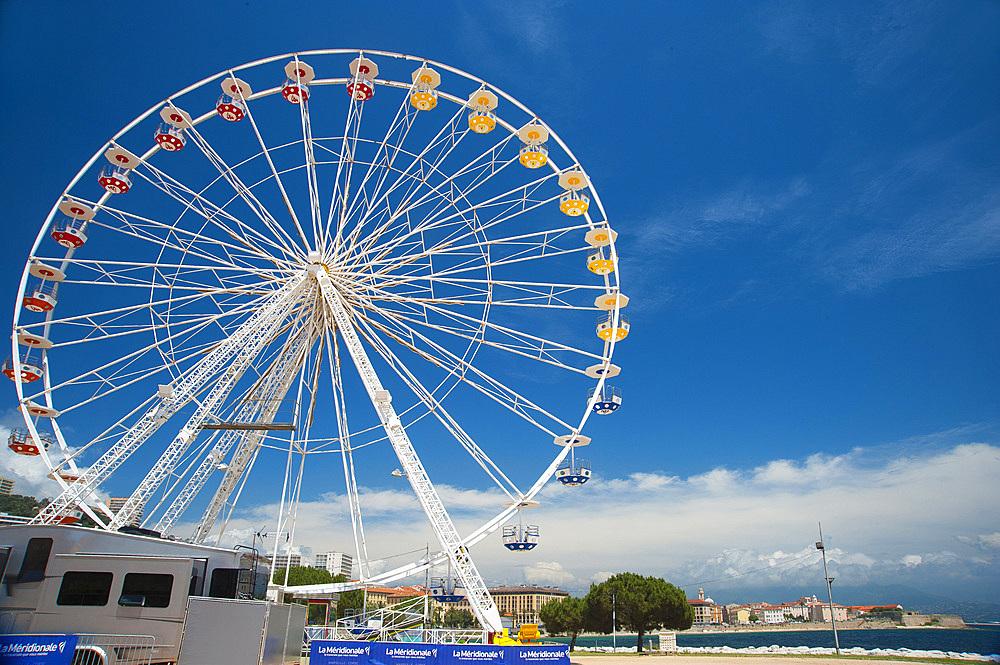 Ferris Wheel of Ajaccio, Corsica, France, Europe