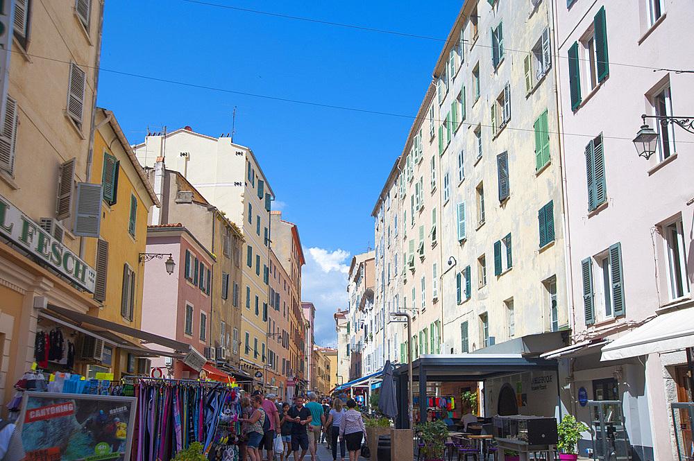 Historical center of Ajaccio, Corsica, France