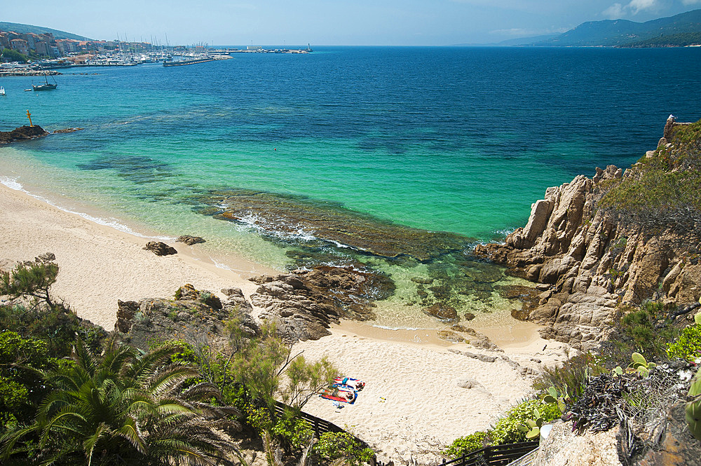 Spiaggia Mancinu beach, Propriano, Corsica, France, Europe