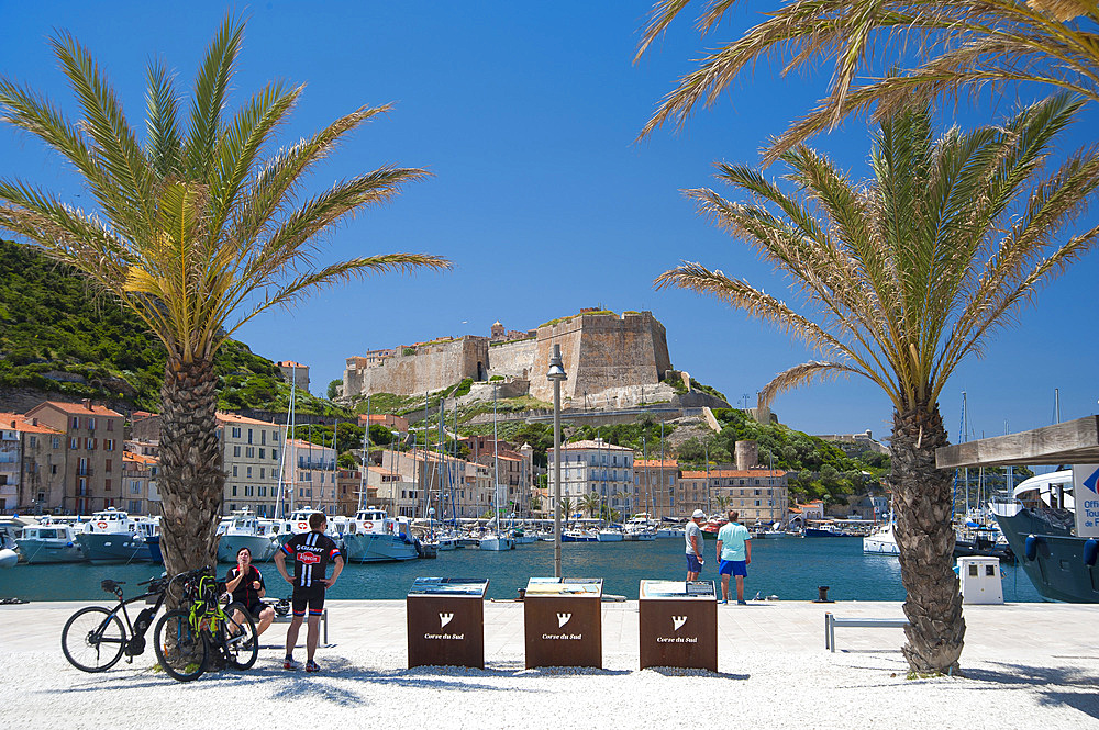Harbour and Citadel, Bonifacio, South Corse, France, Europe