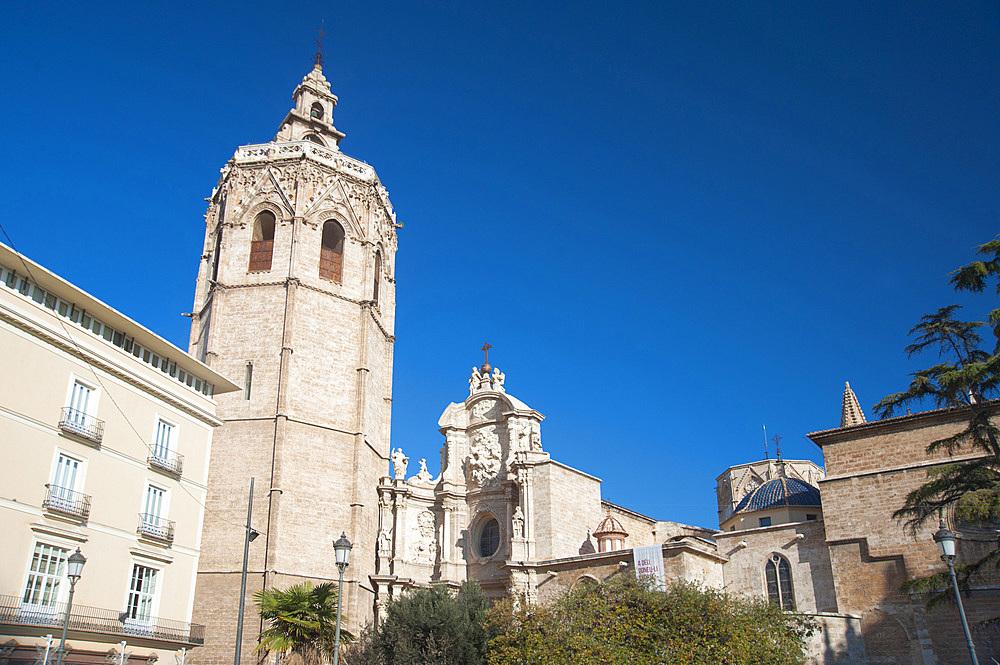 Cathedral, Plaça de la Reina, Valencia, Spain, Europe