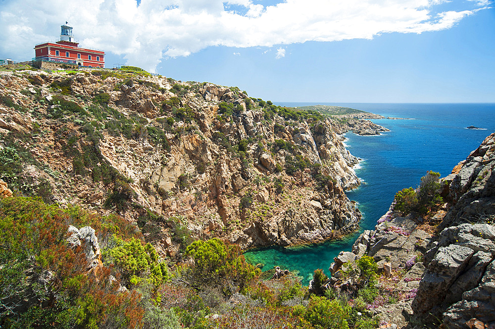 Lighthouse of Cape Spartivento, Chia, Domus de Maria, Sardinia, Italy, Europe