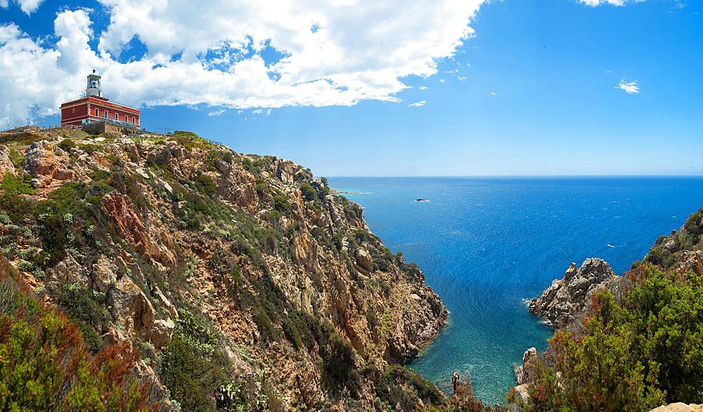 Lighthouse, Cape Spartivento, Chia, Domus de Maria, Sardinia, Italy, Europe