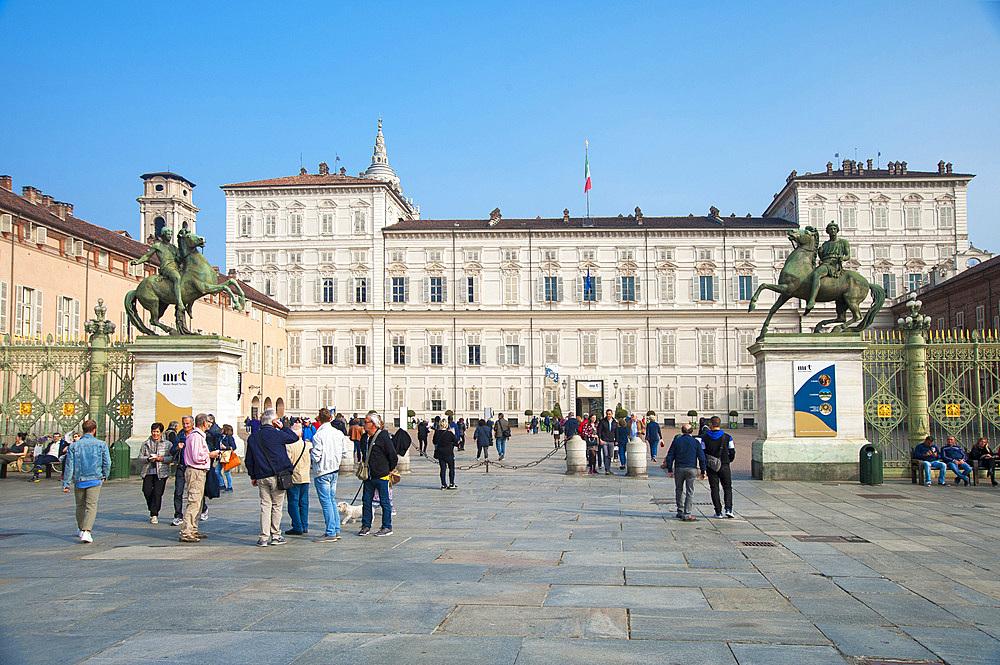 Palazzo Reale, Royal Palace, Piazza Castello, historic city center, Turin, Piedmont, Italy, Europe