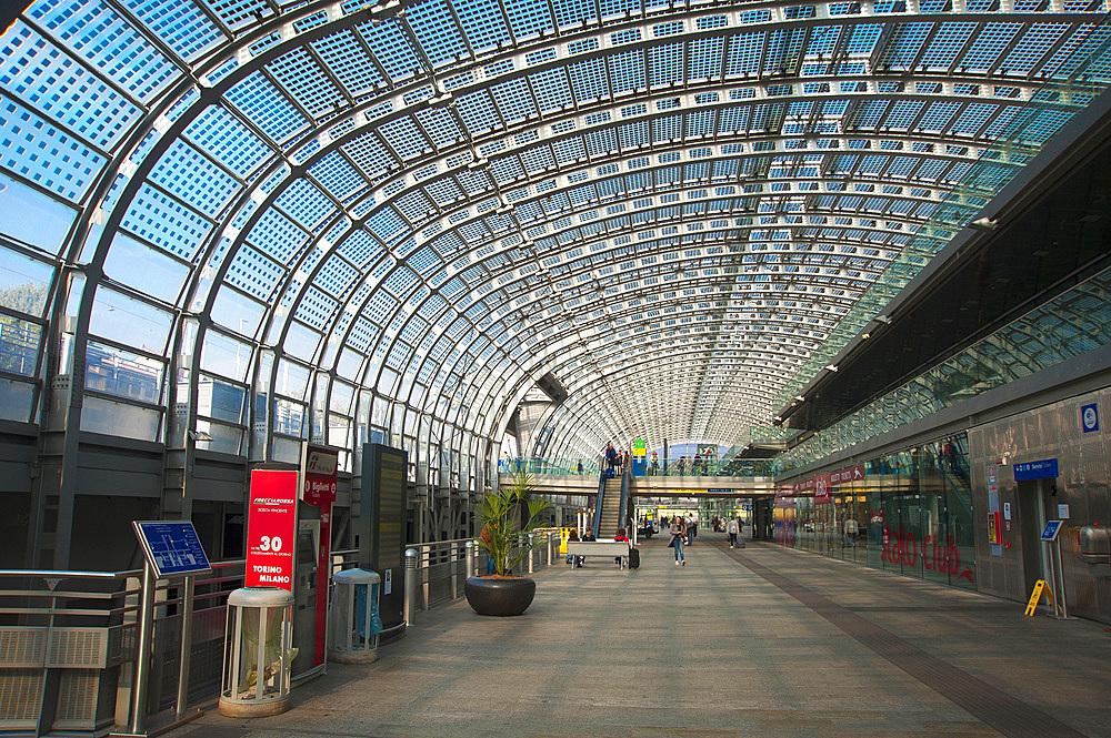 Porta Susa train station, Turin, Piedmont, Italy, Europe
