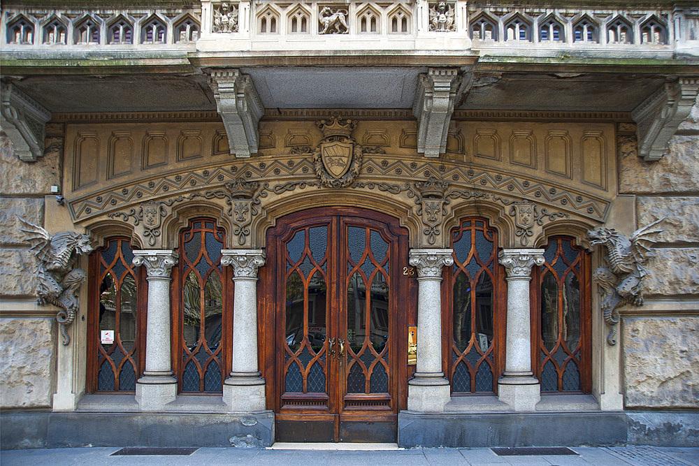 Palazzo della Vittoria or Casa dei Draghi palace, Liberty Palace, Corso Francia, historic city center, Turin, Piedmont, Italy, Europe
