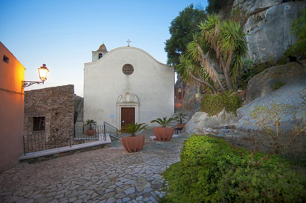 Sant'Antonio Abate Church, Castello della Fava, Posada, Sardinia, Italy, Europe