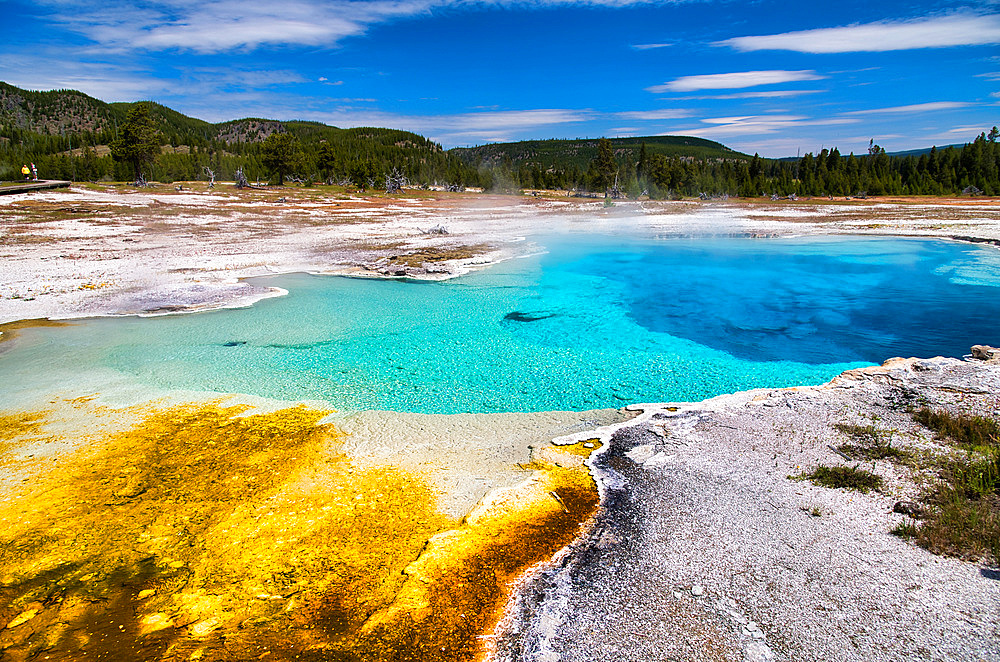 Sapphire Pool in Biscuit Basin, Yellowstone National Park, Wyoming.
