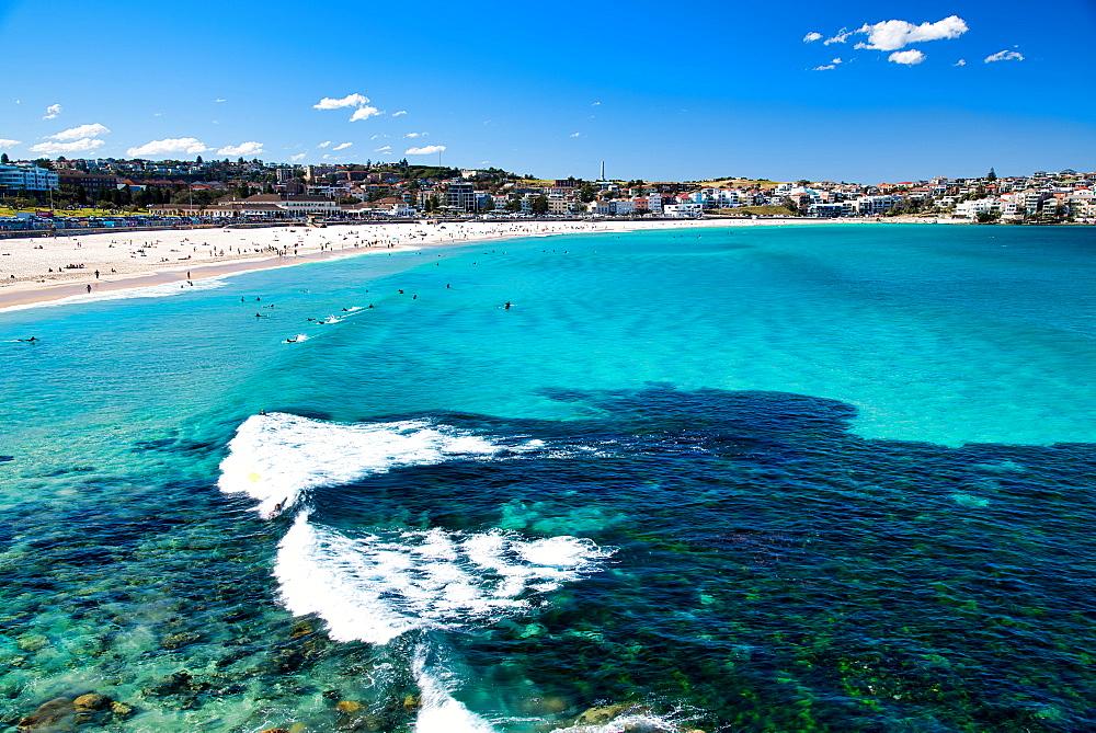 Bondi Beach coastline, Sydney - Australia.