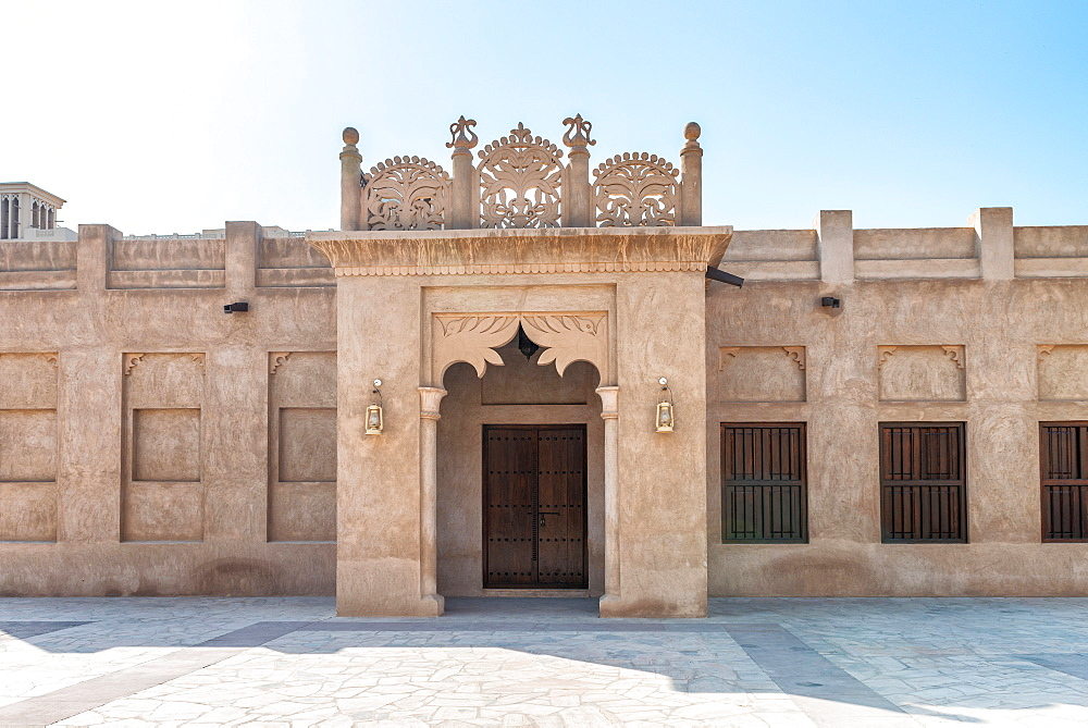 Ancient constructions in Old Dubai Quarter.