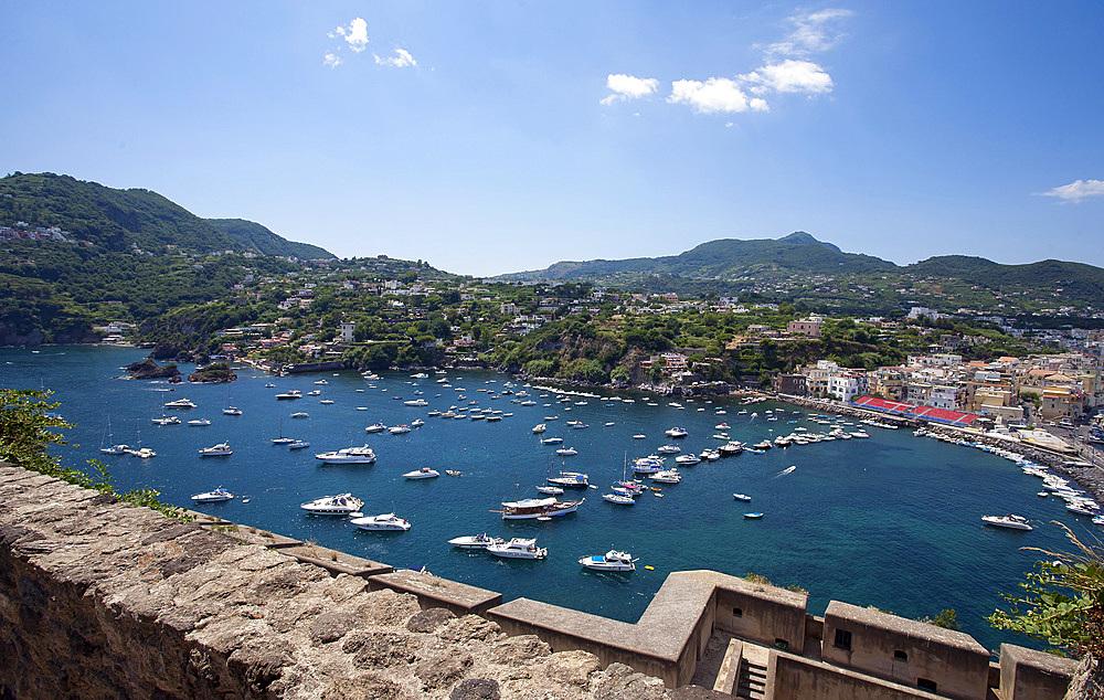 Aragonese castle, Ischia island, Campania, Italy, Europe.