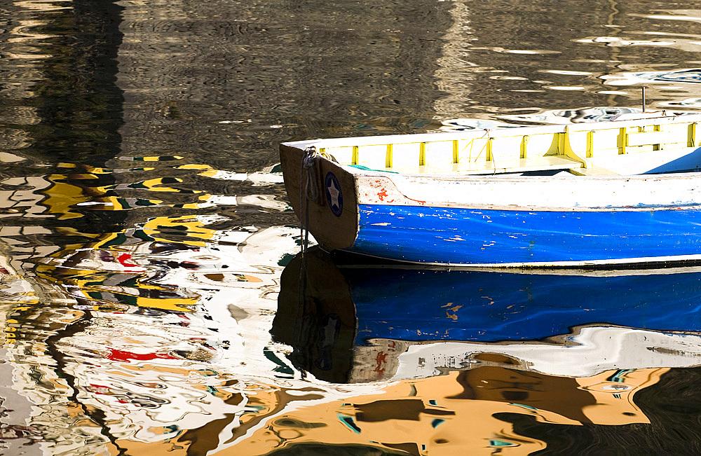 Fisherman's boat, Procida island, Naples, Campania, Italy, Europe.