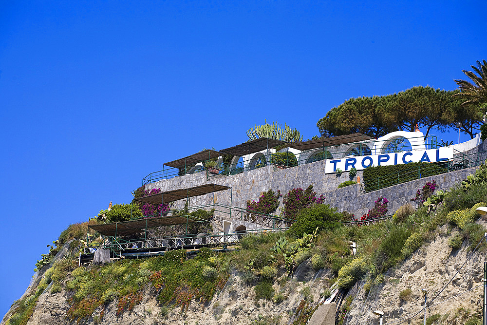 Tropical termal centre, S.Angelo bay, Ischia island, Naples, Campania, Italy, Europe.