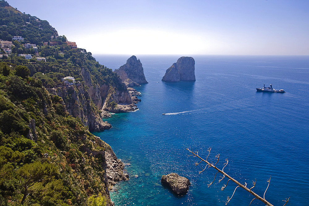 Faraglioni, Capri island, Naples, Italy, Campania, Europe.