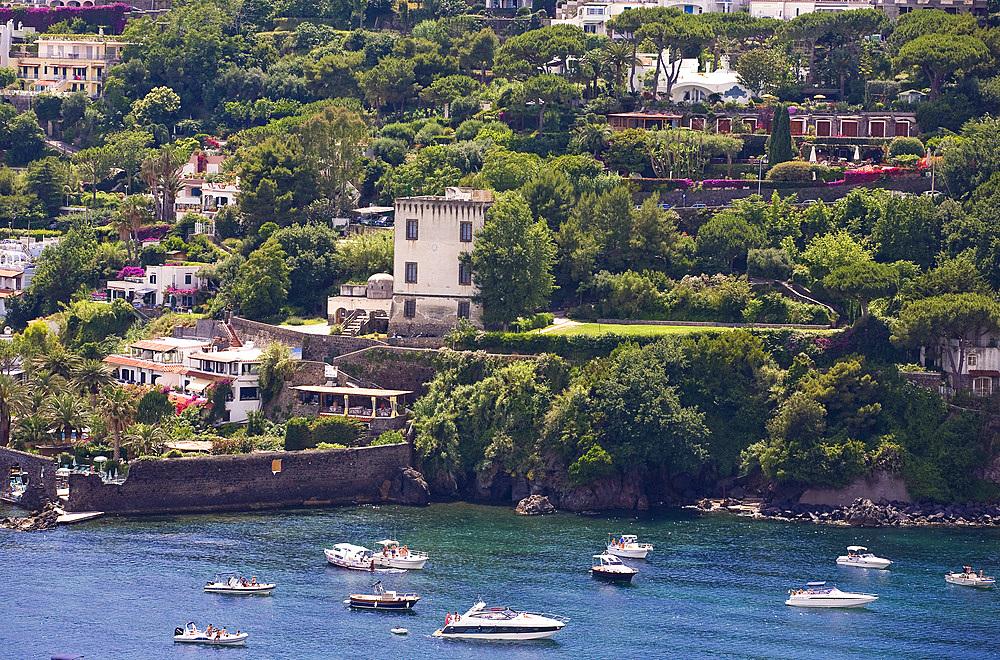 Guevara Tower, Ischia island, Naples, Campania, Italy, Europe.